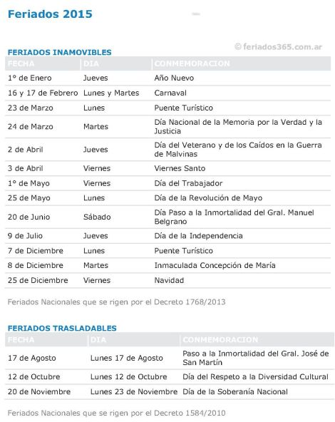 Feriados-2015